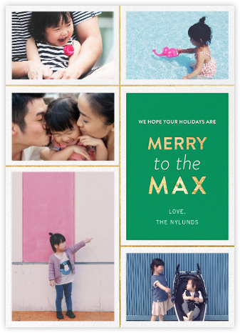 Merry to the Max - Emerald - Jonathan Adler - Holiday Cards