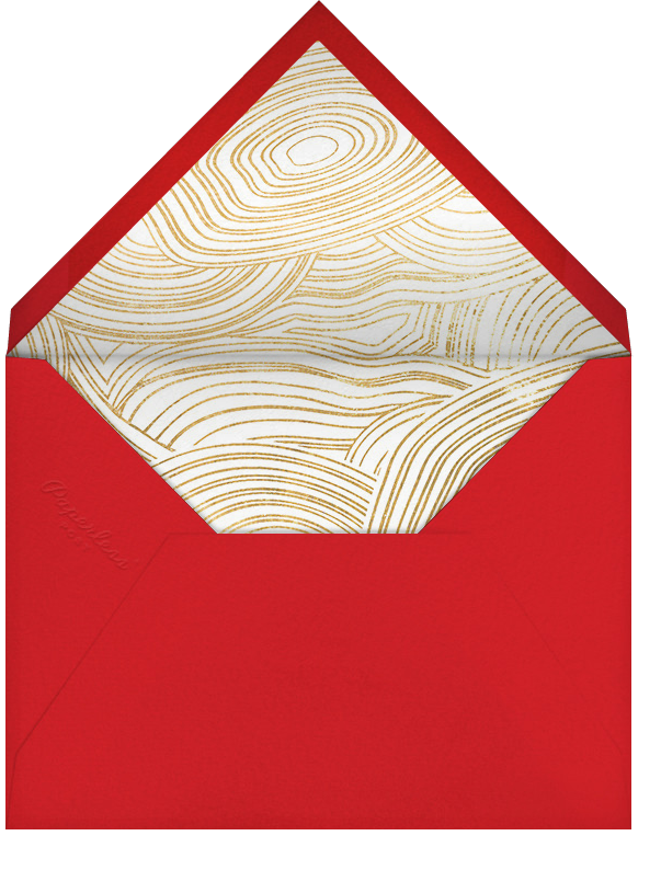Nixon Holiday - Gold - Jonathan Adler - Holiday cards - envelope back