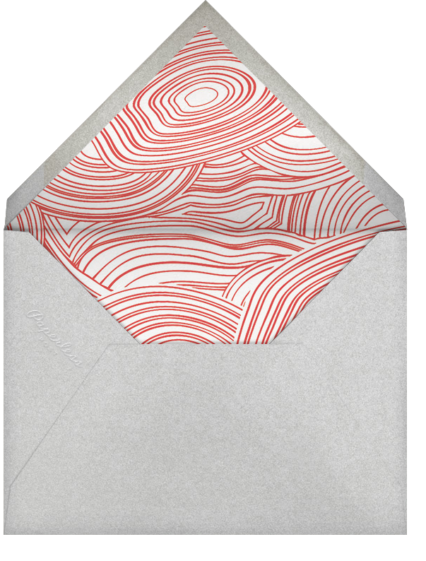 Nixon Holiday - Red - Jonathan Adler - Holiday cards - envelope back