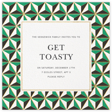 Tetrahedron - Jonathan Adler - Holiday invitations