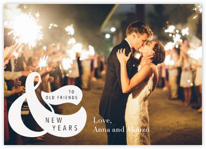Old Friends and New Years (Horizontal) - White - Paperless Post - New Year cards