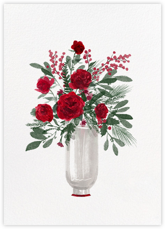 Arrangement in Red - Paperless Post - Company holiday cards