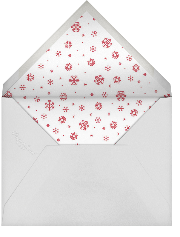 Snowfall - Gold - Paperless Post - Holiday cards - envelope back
