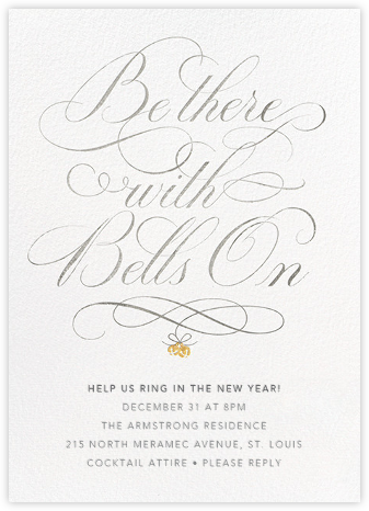 Bell of the Ball - Cheree Berry - New Year's Eve Invitations