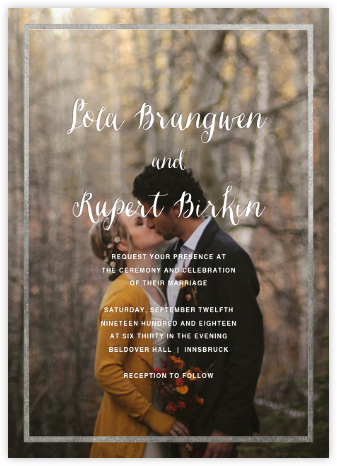Idylle (Photo Invitation) - Silver - Paperless Post - Wedding Invitations