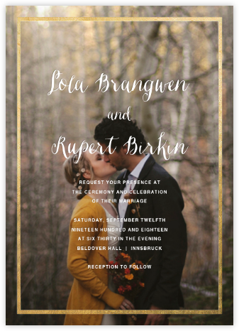 Idylle (Photo Invitation) - Gold - Paperless Post - Online Wedding Invitations