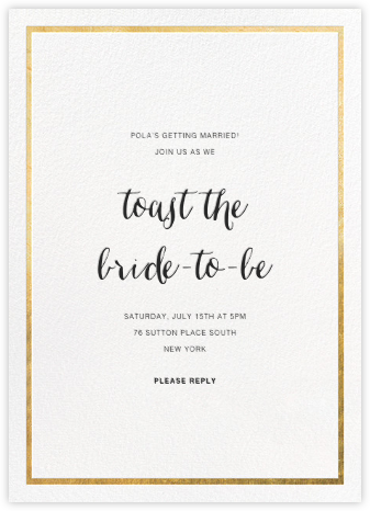 Idylle - White/Gold - Paperless Post - Bridal shower invitations