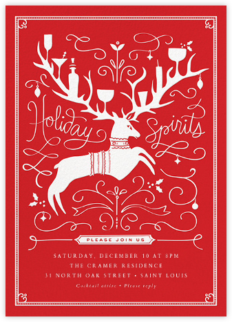 Reindeer Cheer - Cheree Berry - Cheree Berry invitations and cards