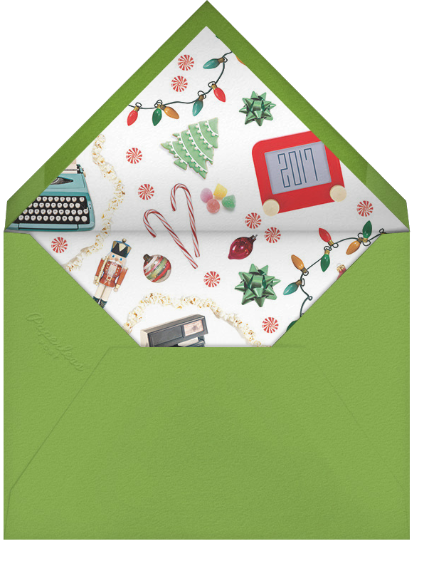 Christmas Kitsch - Cheree Berry - Holiday cards - envelope back