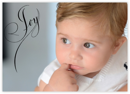 Joy (Photo) - Black - Bernard Maisner - Birth Announcements