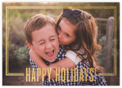 Holiday Exclamation - Gold - Jonathan Adler - Holiday photo cards