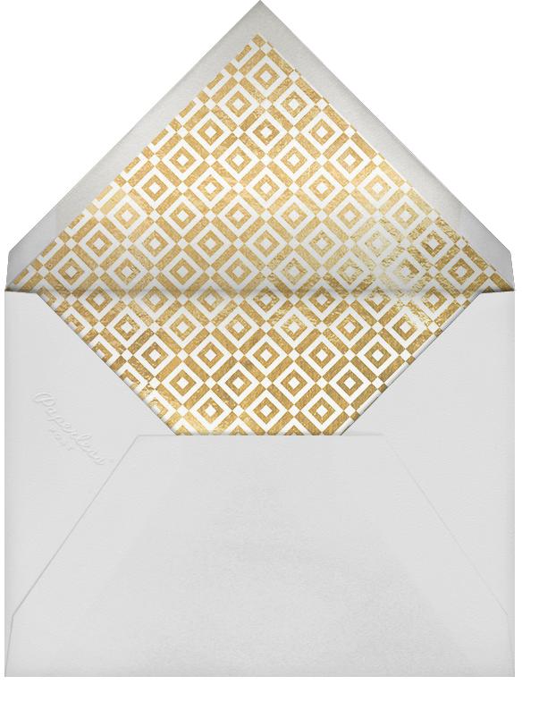 Holiday Exclamation - Gold - Jonathan Adler - Holiday cards - envelope back