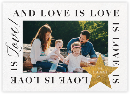Love Is Love Is Love (Horizontal) - Gold - Cheree Berry Paper & Design -