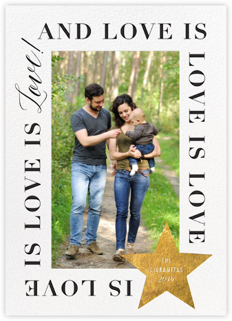 Love Is Love Is Love (Tall) - Gold - Cheree Berry Paper & Design -