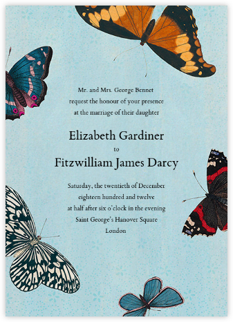 Lepidoptera (Invitation) - John Derian - Wedding Invitations