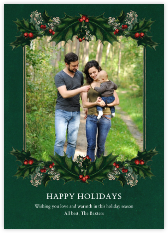 Branches de Houx (Photo) - John Derian - Holiday photo cards