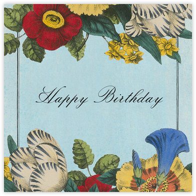 Scrapbook Flowers (Greeting) - John Derian - John Derian stationery