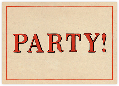 Red Letter Party (Invitation) - John Derian - Adult Birthday Invitations