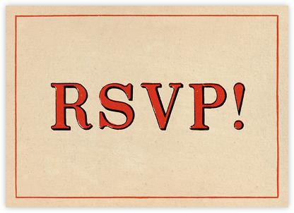 Red Letter Response (Invitation) - John Derian - Dinner Party Invitations