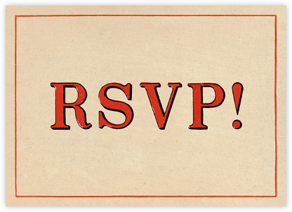 Red Letter Response (Invitation) - John Derian - Adult Birthday Invitations