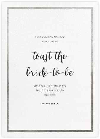 Idylle - White/Silver - Paperless Post - Bridal shower invitations