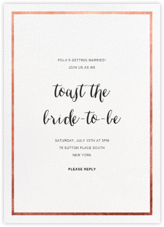 Idylle - White/Rose Gold - Paperless Post - Bridal shower invitations