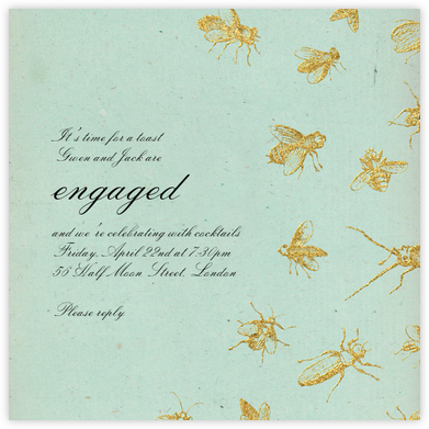 Apiary - John Derian - Engagement party invitations