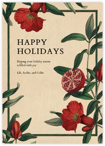 Balaustine - John Derian - Holiday cards