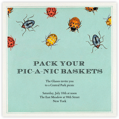 Beetle Troop - John Derian - Summer Party Invitations