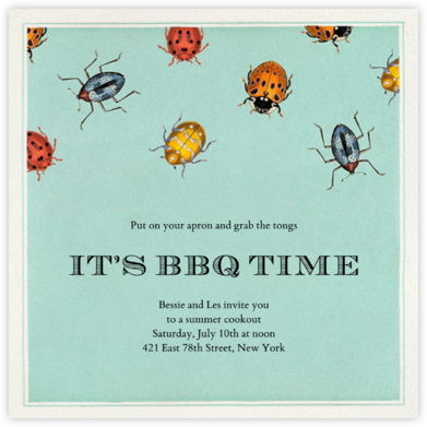 Beetle Troop - John Derian - Summer entertaining invitations