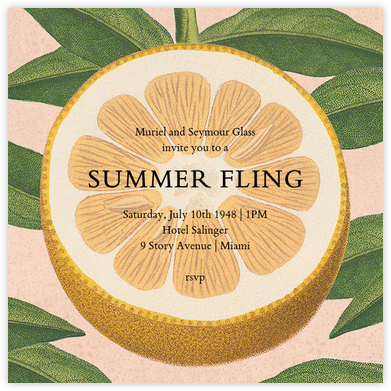 Citrus Slice - John Derian - Summer Party Invitations
