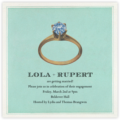 Diamond Ring - John Derian - Engagement party invitations