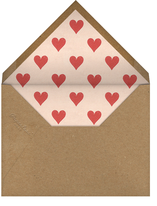 Engaged Hearts - John Derian - Engagement party - envelope back