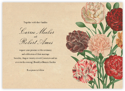 Dianthus (Invitation) - John Derian - Wedding invitations