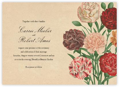 Dianthus (Invitation) - John Derian - Romantic wedding invitations
