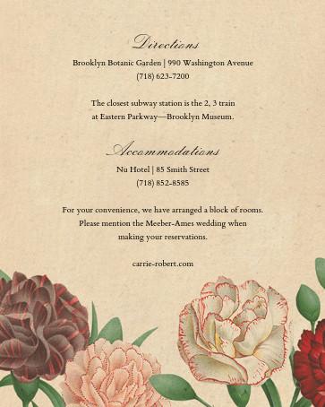 Dianthus (Invitation) - John Derian - All - insert front