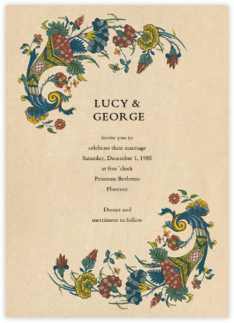 Faience (Invitation) - John Derian - Wedding Invitations