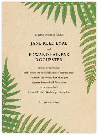 Fern Fronds (Invitation) - John Derian - Destination wedding invitations