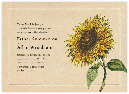 Helianthus - John Derian - Wedding Invitations