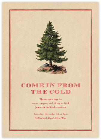 Lone Fir - John Derian - Winter Party Invitations