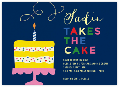 Take the Cake - Cheree Berry - First Birthday Invitations