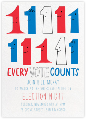 Every Vote Counts - Hello!Lucky - Election Night invitations