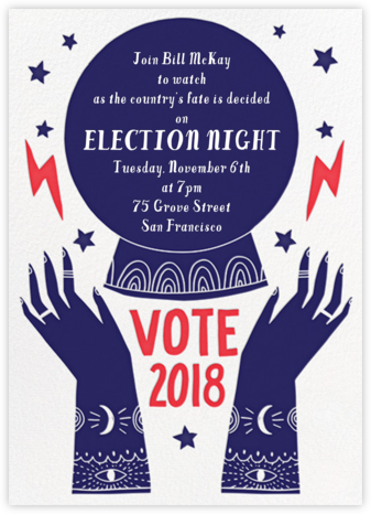Happy Medium - Hello!Lucky - Election Night invitations