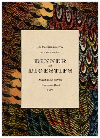 Pheasant Plumage - John Derian - Dinner Party Invitations
