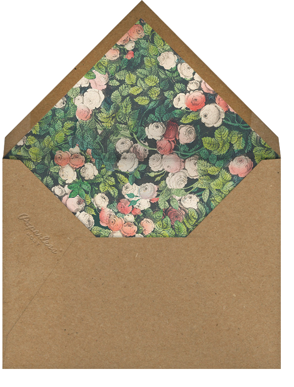 Rose Hedge - John Derian - All - envelope back