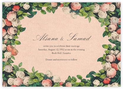 Rose Hedge - John Derian - Wedding Invitations