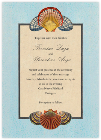 Scallop Medallion (Invitation) - John Derian - Destination Wedding Invitations