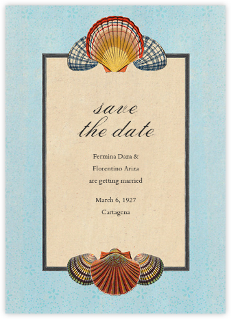 Scallop Medallion (Save the Date) - John Derian - Before the invitation cards