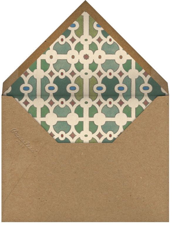 Vintage Homecoming - John Derian - Housewarming - envelope back