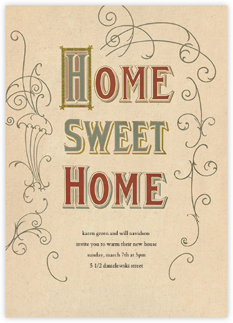 Vintage Homecoming - John Derian - Housewarming party invitations